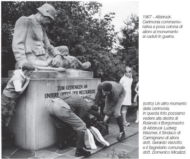20 -1967 ALBBRUCK   DEPOSITO CORONA MONUMENTO CADUTI